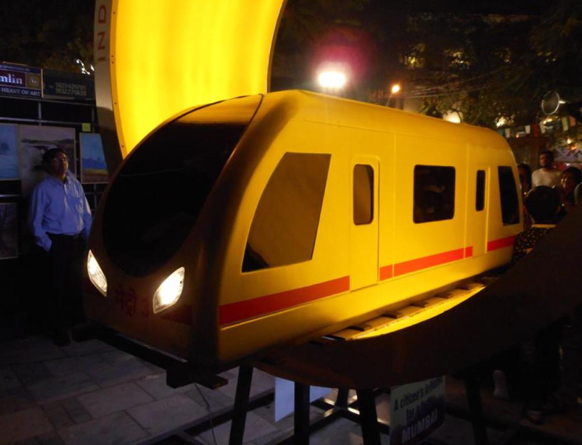 Kalaghoda Metro Installation