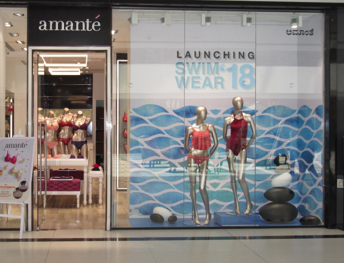 Amante Swimwear Window Display