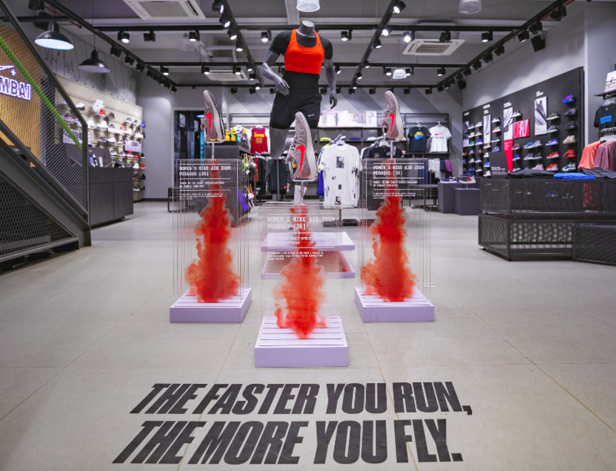 Nike Pegasus Launch Window Display