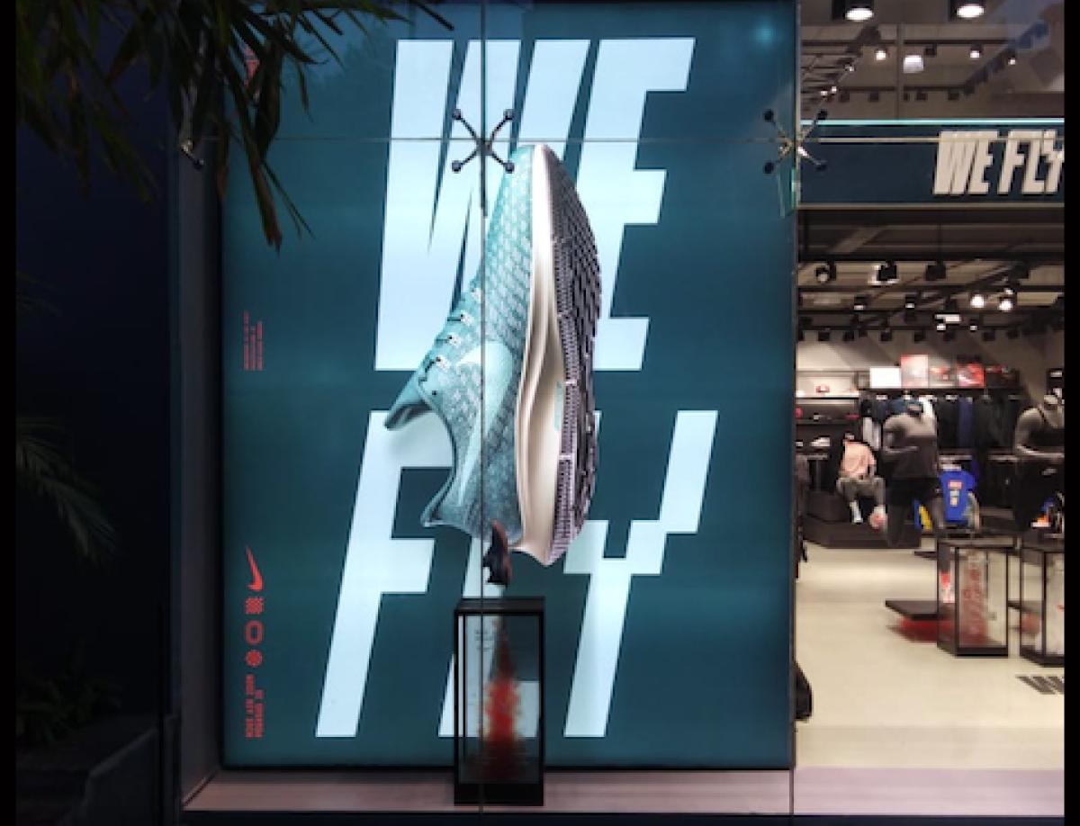 Nike We Fly Window Display