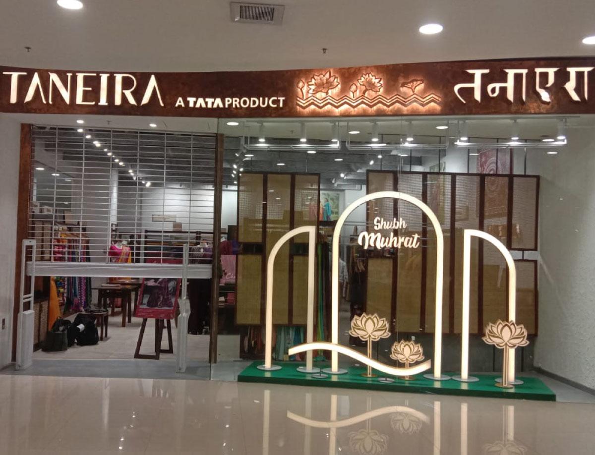Taneria Shubh Mahurat Window Display