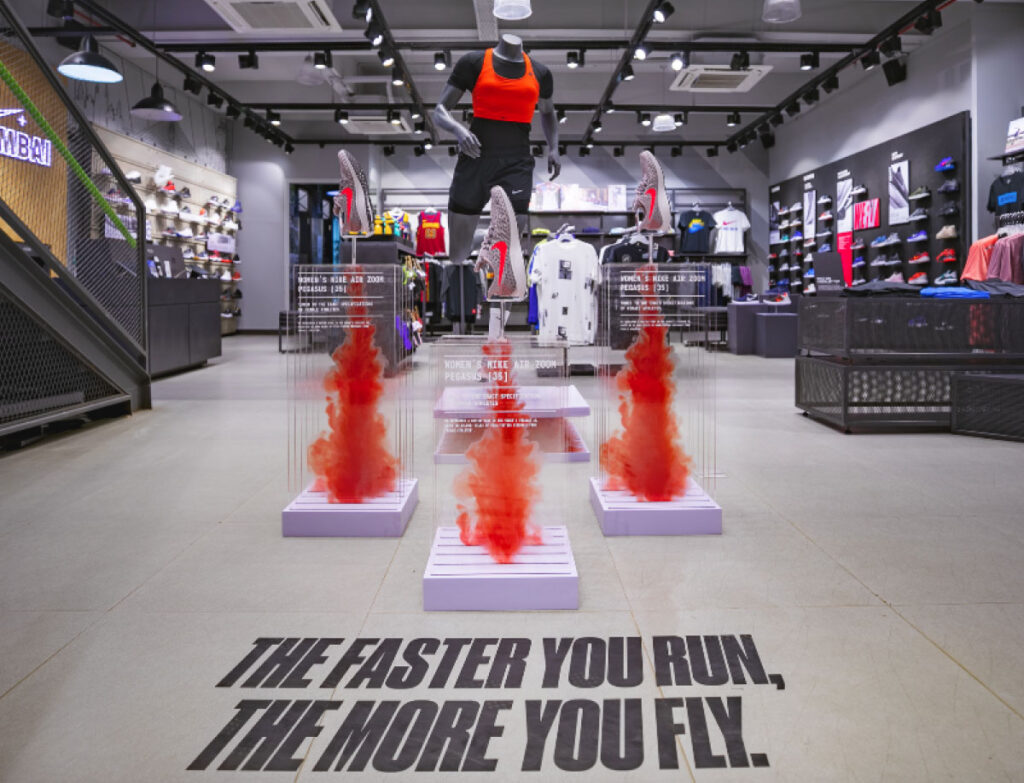 Nike Pegasus Launch Window Display