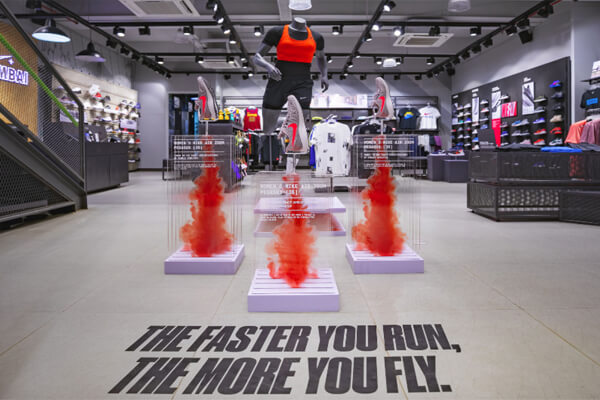 Nike – Launching its latest edition in rocket takeoff style!