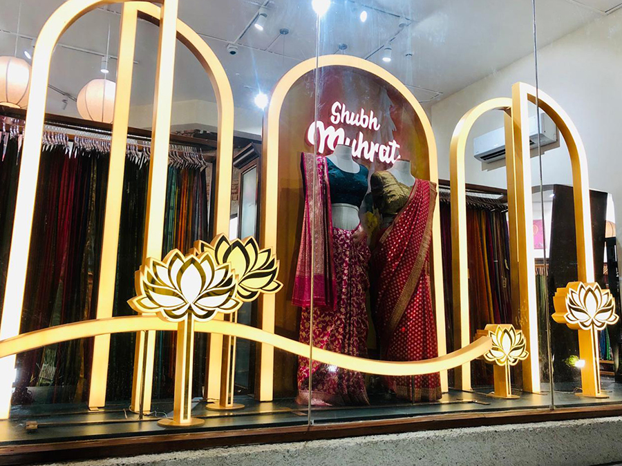 Taneria Shubh Mahurat Window Display